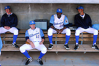 April 9, 2009: Photo of the Myrtle Beach Pelicans, including Freddie Freeman, second from left, and Jason Heyward, second from right, Class A affiliate of the Atlanta Braves, on 2009 opening day at BB&T Coastal Field in Myrtle Beach, S.C. Photo by:  Tom Priddy/Four Seam Images