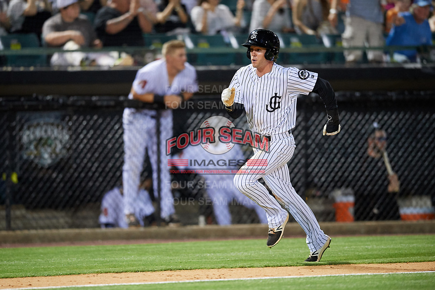 Jackson Generals center fielder Evan Marzilli (45) runs home during a game against the Chattanooga Lookouts on April 29, 2017 at The Ballpark at Jackson in Jackson, Tennessee.  Jackson defeated Chattanooga 7-4.  (Mike Janes/Four Seam Images)