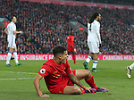 Philippe Coutinho of Liverpool yells out for help during the Premier League match at the Anfield Stadium, Liverpool. Picture date: November 26th, 2016. Pic Simon Bellis/Sportimage
