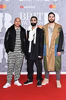 Rudimental<br /> arriving for the BRIT Awards 2019 at the O2 Arena, London<br /> <br /> ©Ash Knotek  D3482  20/02/2019<br /> <br /> *images for editorial use only*