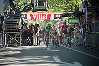 foto-finish for Alexander Kristoff (NOR/Katusha) &amp; Peter Sagan (SVK/Tinkoff). Sagan takes his 3rd victory in this Tour.<br /> <br /> st16: Morain-en-Montagne to Bern (SUI) / 209km<br /> 103rd Tour de France 2016