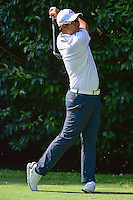 Hideto Tanihara (JPN) watches his tee shot on 2 during round 1 of the World Golf Championships, Mexico, Club De Golf Chapultepec, Mexico City, Mexico. 3/2/2017.<br />
