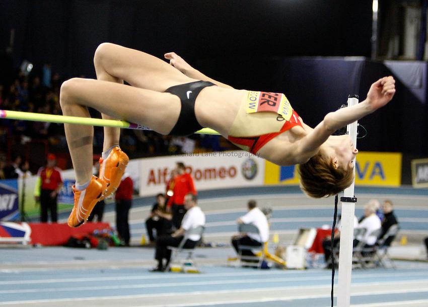 Photo: Richard Lane/Richard Lane Photography. Aviva International Match. 30/01/2010. Germany's Meike Kroger in the women's high jump.