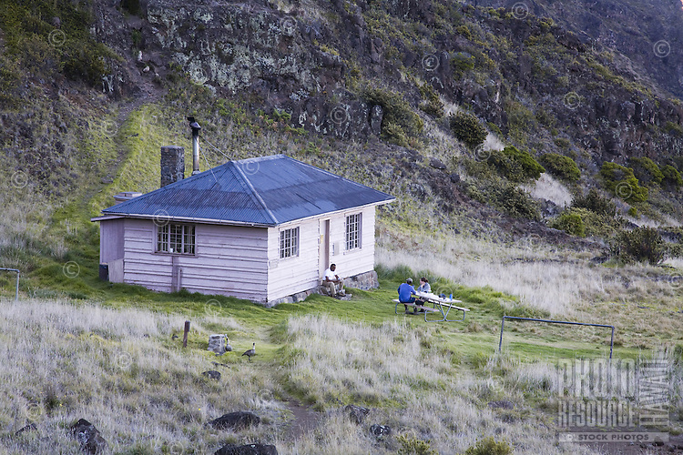 Cabin in the crater of Haleakala National Park