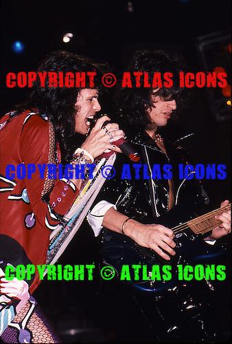 Aerosmith ;Live ; On 1987-1988; Permanent Vacation Tour.Photo Credit: Eddie Malluk/Atlas Icons.com