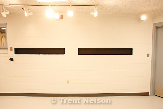 Trent Nelson  |  The Salt Lake Tribune.Draper - The execution chamber at the Utah State Prison after Ronnie Lee Gardner was executed by firing squad Friday, June 18, 2010. Four bullet holes are visible in the wood panel behind the chair. Gardner was convicted of aggravated murder, a capital felony, in 1985.