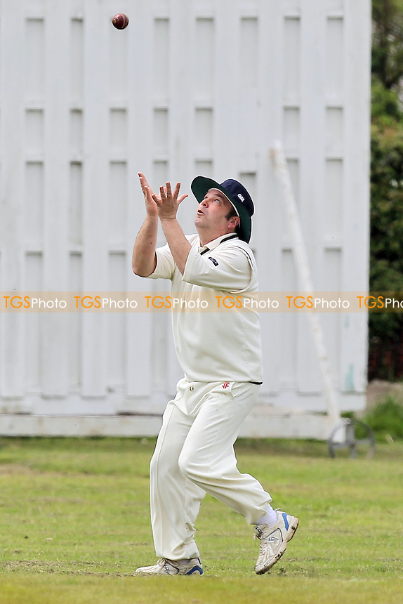 M King of Barking skies the ball and is caught out - Noak Hill Taverners CC vs Barking CC 2nd XI - Essex Cricket League - 19/05/12 - MANDATORY CREDIT: Gavin Ellis/TGSPHOTO - Self billing applies where appropriate - 0845 094 6026 - contact@tgsphoto.co.uk - NO UNPAID USE.