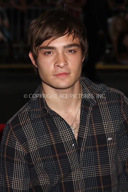 "WWW.ACEPIXS.COM . . . . .  ....July 28 2008, New York City....Actor Ed Westwick arriving at the premiere of ""The Sisterhood of the Travelling Pants 2"" at the Zeigfeld Theatre on July 28 2008 in New York City....Please byline: AJ Sokalner - ACEPIXS.COM..... *** ***..Ace Pictures, Inc:  ..te: (646) 769 0430..e-mail: info@acepixs.com..web: http://www.acepixs.com"