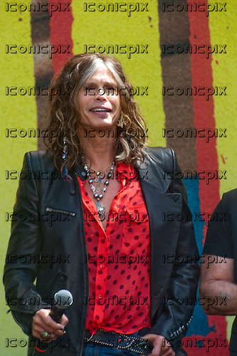 AEROSMITH - vocalist Steven Tyler announce their 2012 Global Warming Tour at their press conference held at The Grove in Los Angeles, CA USA - March 28, 2012. Photo © Kevin Estrada / iconicpix