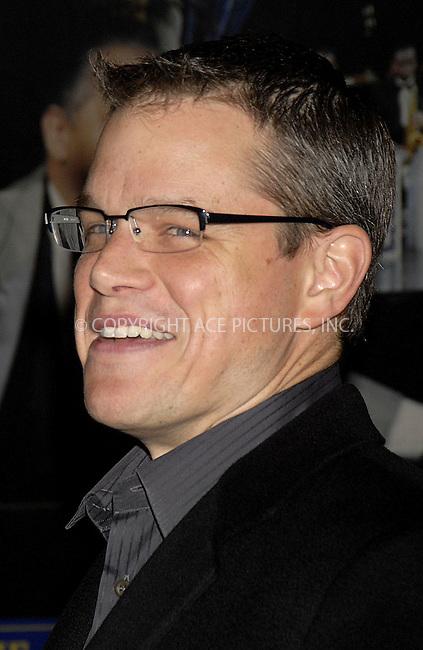 WWW.ACEPIXS.COM . . . . ....December 7, 2007, New York City....Matt Damon attends the NY Film Critics Awards.....Please byline: KRISTIN CALLAHAN - ACEPIXS.COM.. . . . . . ..Ace Pictures, Inc:  ..(212) 243-8787 or (646) 679 0430..e-mail: picturedesk@acepixs.com..web: http://www.acepixs.com