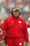 Madison, Wisconsin - 9/13/03. University of Wisconsin head coach Barry Alvarez during the UNLV game at Camp Randall Stadium. UNLV beat Wisconsin 23-5. (Photo by David Stluka)
