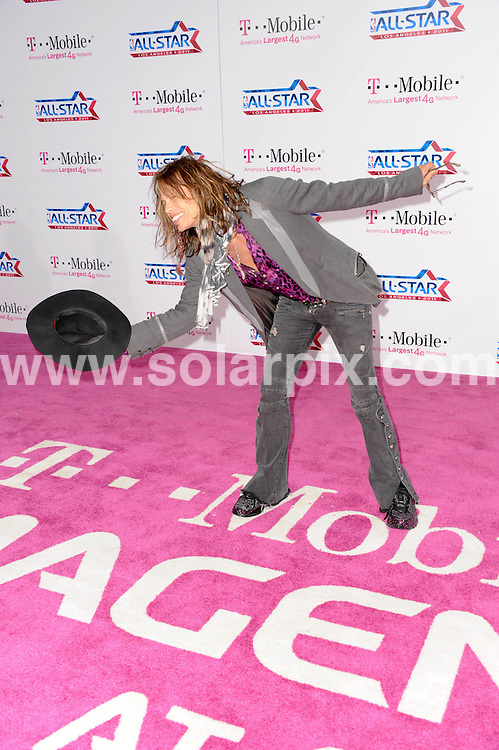 **ALL ROUND PICTURES FROM SOLARPIX.COM**                                             **SYNDICATION RIGHTS FOR UK, AUSTRALIA, DENMARK, PORTUGAL, S. AFRICA, SPAIN & DUBAI (U.A.E) & ASIA (EXCLUDING JAPAN) ONLY**                                                                                  Caption:  arrivals on the T-Mobile Magenta Carpet At The 2011 NBA All-Star Game at LA Live, Los Angeles, USA. 20 February 2011                                                                             This pic: Steven Tyler                                                                             JOB REF: 12867 PHZ Berezovsky      DATE: 20_02_2011                                                          **MUST CREDIT SOLARPIX.COM OR DOUBLE FEE WILL BE CHARGED**                                                                      **MUST AGREE FEE BEFORE ONLINE USAGE**                               **CALL US ON: +34 952 811 768 or LOW RATE FROM UK 0844 617 7637**
