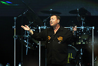 Ali Campbell of UB40 on stage<br /> UB40 concert at Parc Y Scarlets, Llanelli, Wales, UK. Saturday 10 June 2017