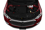 Car stock 2020 Chevrolet traverse 3LT 5 Door SUV engine high angle detail view