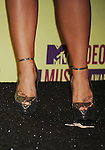 LOS ANGELES, CA - SEPTEMBER 06: Demi Lovato (shoe, tattoo detail) in the press room during the 2012 MTV Video Music Awards at Staples Center on September 6, 2012 in Los Angeles, California.