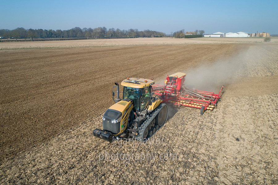 Drilling spring barley with 8m Vaderstad - Lincolnshire, February