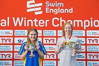 Picture by Allan McKenzie/SWpix.com - 17/12/2017 - Swimming - Swim England Nationals - Swim England National Championships - Ponds Forge International Sports Centre, Sheffield, England - Fleur Lewis & Laura Stephens with gold in the womens 200m butterfly.