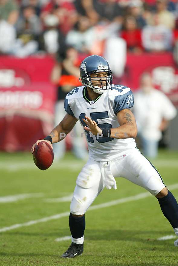 SENECA WALLACE, of the Seattle Seahawks ,during their game against  the  San Francisco 49ers on Novmeber 19, 2006 in San Francisco, CA...49ers win 20-14..Rob Holt / SportPics
