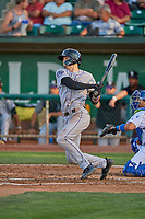 Brenton Doyle (29) of the Grand Junction Rockies at bat against the Ogden Raptors at Lindquist Field on August 28, 2019 in Ogden, Utah. The Rockies defeated the Raptors 8-5. (Stephen Smith/Four Seam Images)