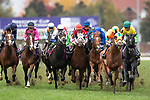 November 2, 2018: Line Of Duty #5, ridden by William Buick, wins the Juvenile Turf on Breeders' Cup World Championship Friday at Churchill Downs on November 2, 2018 in Louisville, Kentucky. Alex Evers/Eclipse Sportswire/CSM