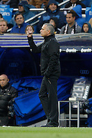 14.04.2012 SPAIN -  La Liga matchday 34th  match played between Real Madrid CF vs Real Sporting de Gijon (3-1) at Santiago Bernabeu stadium. The picture show Jose Mourinho  coach of Real Madrid