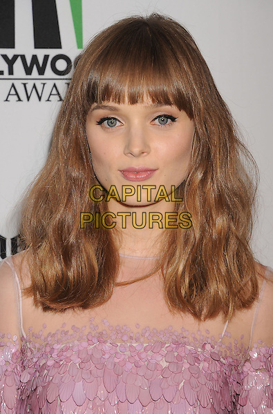Bella Heathcote.16th Annual Hollywood Film Awards Gala held at the Beverly Hilton Hotel, Beverly Hills, California, USA..October 22nd, 2012.headshot portrait sheer pink off the shoulder scales .CAP/ROT/TM.©Tony Michaels/Roth Stock/Capital Pictures