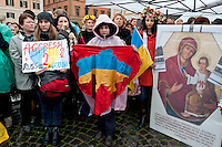 Demonstration against Russia's aggression in Ukraine in Rome