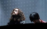 SÃO PAULO,SP,12 MAIO 2012 - FESTIVAL SONAR <br /> Justice durante festival sonar realizado na noite de hoje no Anhembi.FOTO ALE VIANNA - BRAZIL PHOTO PRESS.
