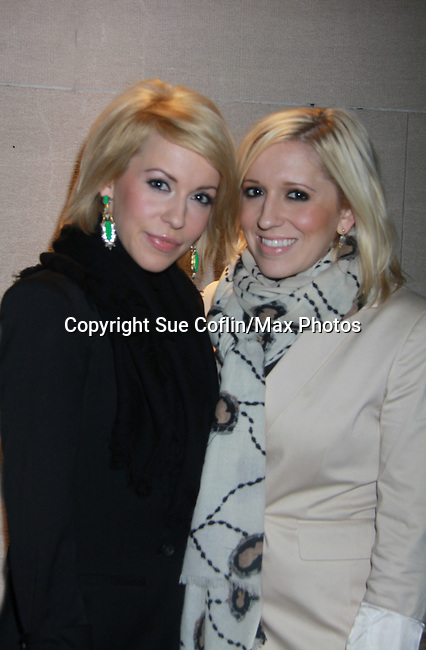 Farah Fath and sister Victoria - Actors, crew, production, family come to One Life To Live's wrap party and video tribute on November 18, 2011 at Capitale, New York City, New York.  (Photo by Sue Coflin/Max Photos)