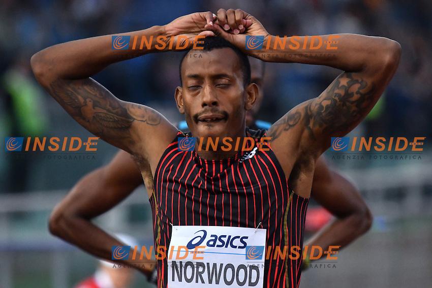 Vernon NORWOOD USA 400m Men <br /> Roma 02-06-2016 Stadio Olimpico <br /> IAAF Diamond League Golden Gala <br /> Atletica Leggera<br /> Foto Andrea Staccioli / Insidefoto