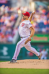 26 July 2013: Washington Nationals pitcher Ross Ohlendorf on the mound against the New York Mets at Nationals Park in Washington, DC. The Nationals bounced back from their loss in the first game of their day/night doubleheader, with a 2-1 nightcap win. Mandatory Credit: Ed Wolfstein Photo *** RAW (NEF) Image File Available ***