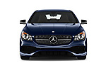 Car photography straight front view of a 2017 Mercedes Benz CLA-Class CLA250 4 Door Sedan Front View