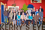 RETIREMENT: Garda Tommy O'Grady, St Brendan's Park, Tralee (seated centre) who retired from the force after 35 years the last 25 years he severed at Dingle Garda station enjoying a great time celebrating with family and friends at Munster bar, Tralee on Saturday.
