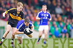 Gavin O'Shea of Dr Crokes and Fergal Lynch of Cratloe in the AIB Munster Senior Football Final played last Sunday in The Gaelic Grounds, Limerick.