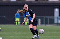 20191123 – BRUGGE, BELGIUM : Brugge's Elle Decorte pictured during a women soccer game between Dames Club Brugge and K AA Gent Ladies on the ninth matchday of the Belgian Superleague season 2019-2020 , the Belgian women's football  top division , saturday 23 th November 2019 at the Jan Breydelstadium – terrain 4  in Brugge  , Belgium  .  PHOTO SPORTPIX.BE | DAVID CATRY
