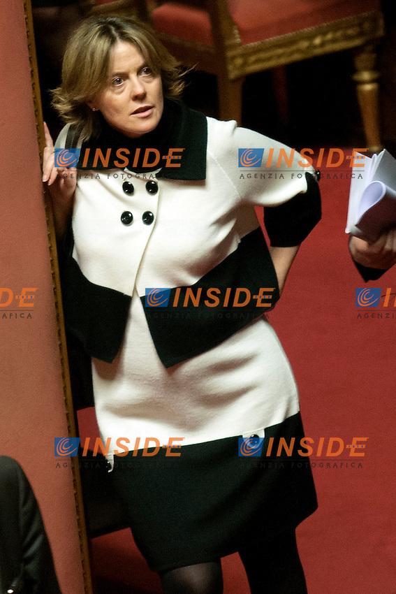 Beatrice Lorenzin incinta<br /> Roma 21-01-2015 Senato. Voto sugli emendamenti del ddl n. 1385, recante disposizioni in materia di elezione della Camera dei deputati, anche soprannominato Italicum.<br /> Photo Samantha Zucchi Insidefoto