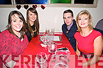 20th Birthday : Fionn Geoghegan, Glin celebrating his  20th birthday at Casa Mia's Restaurant, Listowel with Emma, Laura & Lucia Finnerty on Saturday night last.