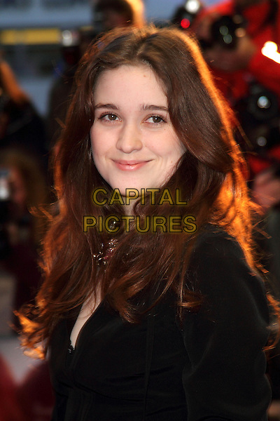 Alice Englert .attended the 'Ginger & Rosa' official screening, London Film Festival Day 4, Odeon West End cinema, Leicester Square, London, England, USA,.13th October 2012..headshot portrait black.CAP/ROS.©Steve Ross/Capital Pictures.