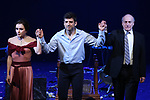 Irina Dvorovenko, Tony Yazbeck and Peter Friedman  during the Opening Night Performance Curtain Call bows  for  'The Beast In The Jungle' at The Vineyard Theatre on May 23, 2018 in New York City.