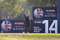 Gavin Green (MAS) on the 14th tee during Round 2 of the Sky Sports British Masters at Walton Heath Golf Club in Tadworth, Surrey, England on Friday 12th Oct 2018.<br /> Picture:  Thos Caffrey | Golffile<br /> <br /> All photo usage must carry mandatory copyright credit (&copy; Golffile | Thos Caffrey)