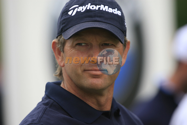Retief Goosen (RSA) before teeing off on the 1st tee to start his round on Day 2 of the BMW PGA Championship Championship at, Wentworth Club, Surrey, England, 27th May 2011. (Photo Eoin Clarke/Golffile 2011)