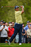 Hideki Matsuyama (JPN) watches his tee shot on 6 during round 4 of the 2019 PGA Championship, Bethpage Black Golf Course, New York, New York,  USA. 5/19/2019.<br /> Picture: Golffile | Ken Murray<br /> <br /> <br /> All photo usage must carry mandatory copyright credit (© Golffile | Ken Murray)