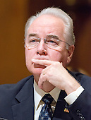 United States Representative Tom Price (Republican of Georgia) testifies during the United States Senate Committee on Finance hearing considering his nomination to be Secretary of Health and Human Services on Capitol Hill in Washington, DC on Tuesday, January 24, 2017.  This was the second hearing before a US Senate Committee considering his nomination.<br /> Credit: Ron Sachs / CNP