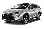 2017 Lexus RX 350 L 5 Door SUV angular front stock photos of front three quarter view