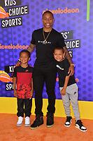 Isaiah Thomas, Jaiden Thomas &amp; James Thomas at the Nickelodeon Kids' Choice Sports Awards 2018 at Barker Hangar, Santa Monica, USA 19 July 2018<br /> Picture: Paul Smith/Featureflash/SilverHub 0208 004 5359 sales@silverhubmedia.com