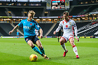 Fleetwood Town's Kyle Dempsey competing with Milton Keynes Dons' Alex Gilbey<br /> <br /> Photographer Andrew Kearns/CameraSport<br /> <br /> The EFL Sky Bet League One - Milton Keynes Dons v Fleetwood Town - Saturday 11th November 2017 - Stadium MK - Milton Keynes<br /> <br /> World Copyright &copy; 2017 CameraSport. All rights reserved. 43 Linden Ave. Countesthorpe. Leicester. England. LE8 5PG - Tel: +44 (0) 116 277 4147 - admin@camerasport.com - www.camerasport.com