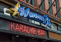 Wanna B's Karaoke Bar, Nashville, Tennessee, USA.