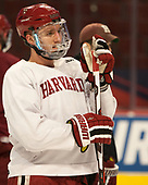 Viktor Dombrovskiy (Harvard - 27) - The Harvard University Crimson practiced at the United Center on Wednesday, April 5, 2017, in Chicago, Illinois.