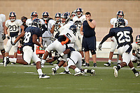 SAN ANTONIO, TX - OCTOBER 13, 2010: The University of Texas at San Antonio Roadrunners Football team scrimmages at the Dub Farris Athletic Complex. (Photo by Jeff Huehn)