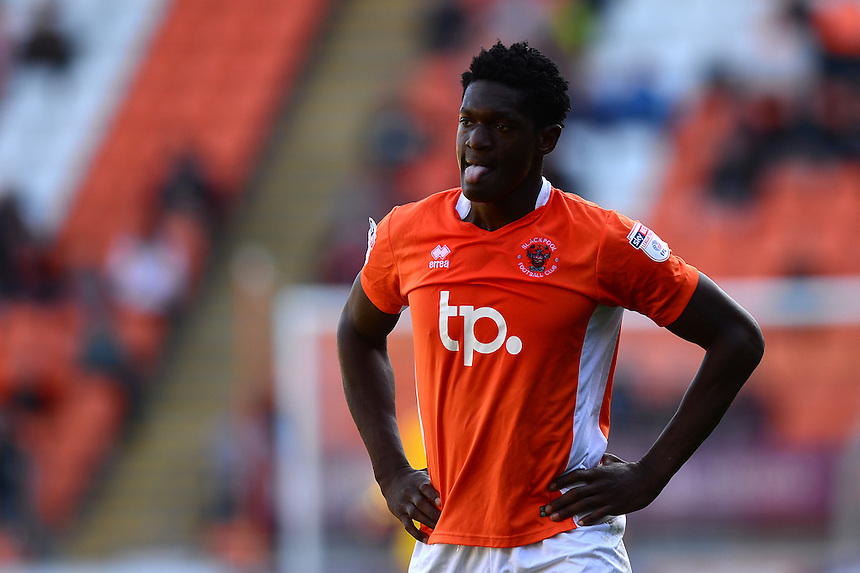 Blackpool's Armand Gnanduillet looks on<br /> <br /> Photographer Richard Martin-Roberts/CameraSport<br /> <br /> The EFL Sky Bet League Two - Blackpool v Carlisle United - Saturday 17 September 2016 - Bloomfield Road - Blackpool<br /> <br /> World Copyright &copy; 2016 CameraSport. All rights reserved. 43 Linden Ave. Countesthorpe. Leicester. England. LE8 5PG - Tel: +44 (0) 116 277 4147 - admin@camerasport.com - www.camerasport.com